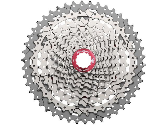 SunRace CSMX3 Kassett 10-fach 11-46 silver